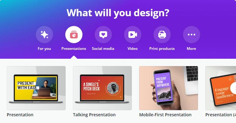Free Presentaion Tool - Canva