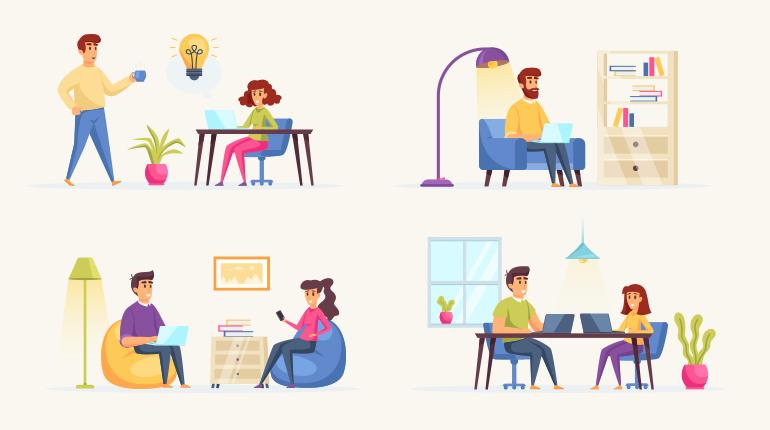 Ideas of Create PPT Online - Use isometric illustrations