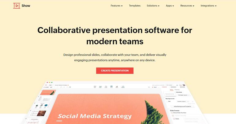 Online PPT Presentation Tool - Zoho Show