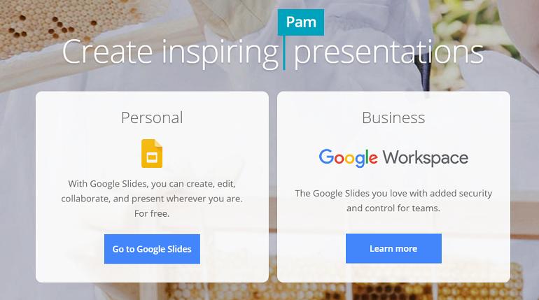 Online Presentaion Maker- Google Slides
