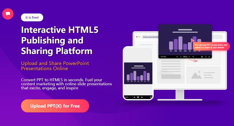 Website for Create PPT Online - SlideHTML5