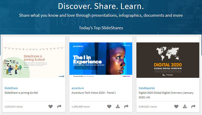 Google PowerPoint Online Alternative - SlideShare