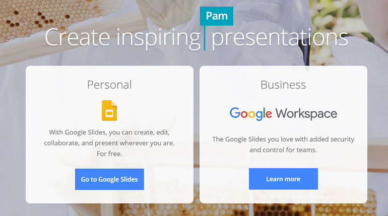 online PowerPoint maker - Google Slides